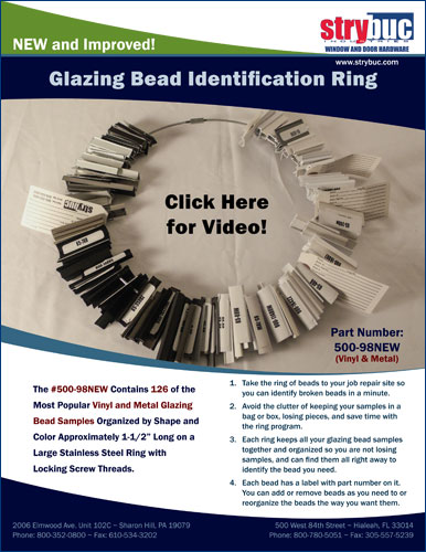 New and Improved Glazing Bead Identification Ring